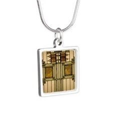 Prairie Glass Silver Square Necklace