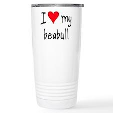 Cute Beagle valentine Travel Mug