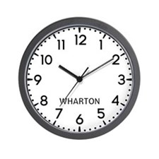 Wharton Newsroom Wall Clock