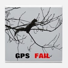 GPS Fail Tile Coaster