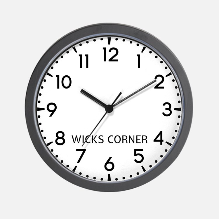 Wicks Corner Newsroom Wall Clock