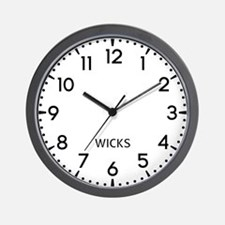 Wicks Newsroom Wall Clock