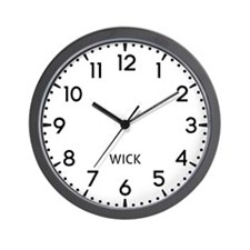Wick Newsroom Wall Clock