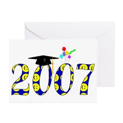 Smiley 2007 Graduate Greeting Cards (Pk of 10)