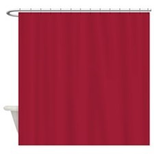 Vivid Burgundy Shower Curtain