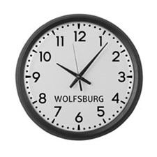 Wolfsburg Newsroom Large Wall Clock