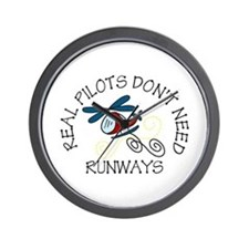 Real Pilots Wall Clock