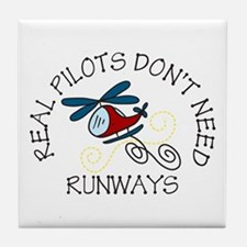 Real Pilots Tile Coaster