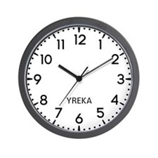 Yreka Newsroom Wall Clock