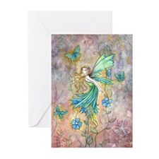 Enchanted Garden Flower Fairy Fantasy Art Greeting