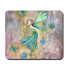 Enchanted Garden Flower Fairy Fantasy Art Mousepad