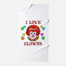 I Love Clowns Beach Towel