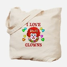 I Love Clowns Tote Bag