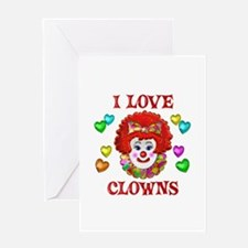 I Love Clowns Greeting Card