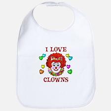 I Love Clowns Bib