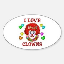 I Love Clowns Decal