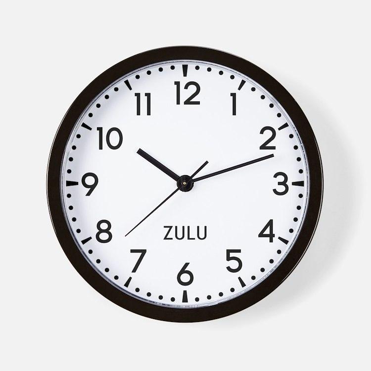 Zulu Newsroom Wall Clock