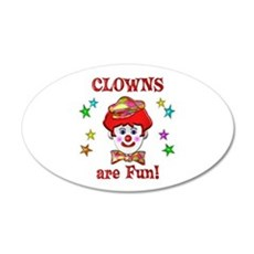 Clowns are Fun Wall Sticker