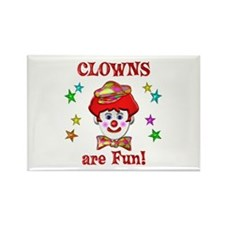 Clowns are Fun Rectangle Magnet