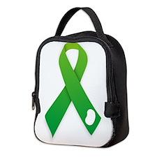 Green Ribbon Neoprene Lunch Bag