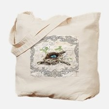 vintage bird nest french botanical art Tote Bag