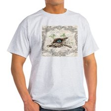 vintage bird nest french botanical art T-Shirt