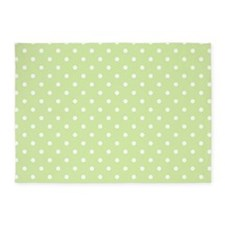 Cute Polka Dots Pattern 5'x7'Area Rug