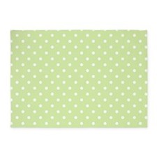 Cute Polka Dots Pattern 5'x7'Area Rug
