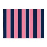 Pink and blue stripes 5x7 Rugs