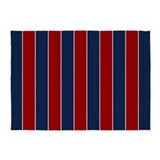 Striped red blue 5x7 Rugs