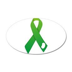 Green Ribbon Wall Decal