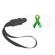 Green Ribbon Luggage Tag