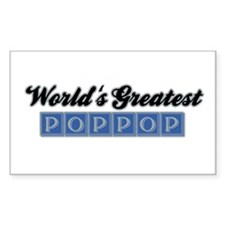 World's Greatest PopPop (1) Rectangle Decal
