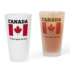 Canada - Flag and Motto Drinking Glass