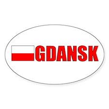 Gdansk, Poland Oval Stickers