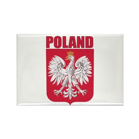 Poland Coat of Arms Rectangle Magnet (100 pack)