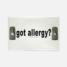 Allergy Moais Rectangle Magnet