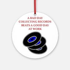 records Ornament (Round)
