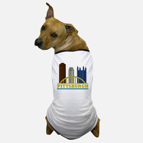 Pittsburgh Pennsylvania Skyline Dog T-Shirt
