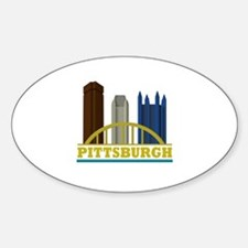 Pittsburgh Pennsylvania Skyline Sticker (Oval)