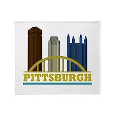 Pittsburgh Pennsylvania Skyline Throw Blanket
