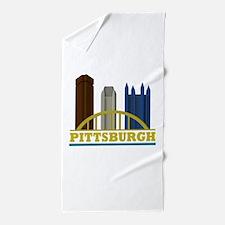 Pittsburgh Pennsylvania Skyline Beach Towel