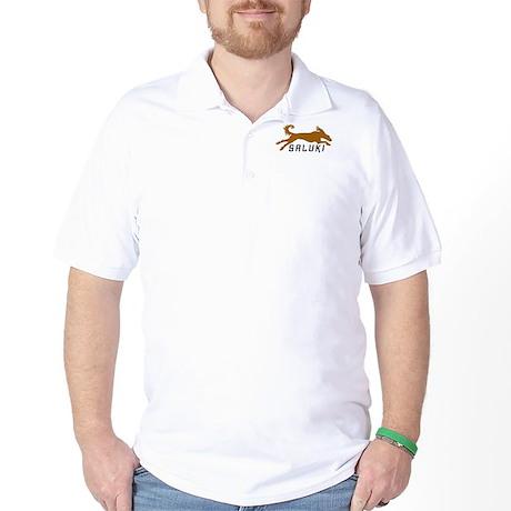 Gold Running Saluki Golf Shirt