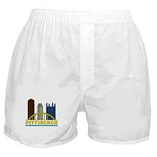 Pittsburgh Pennsylvania Skyline Boxer Shorts
