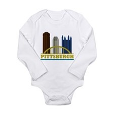 Pittsburgh Pennsylvani Long Sleeve Infant Bodysuit