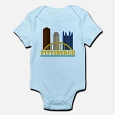 Pittsburgh Pennsylvania Skyline Infant Bodysuit