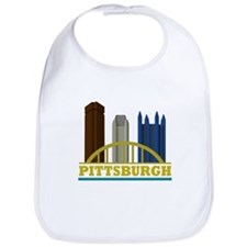 Pittsburgh Pennsylvania Skyline Bib