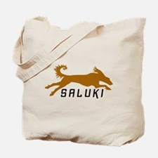 Gold Running Saluki Tote Bag