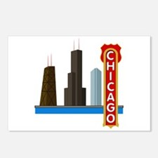 Chicago Illinois Skyline Postcards (Package of 8)