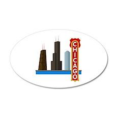 Chicago Illinois Skyline Wall Decal